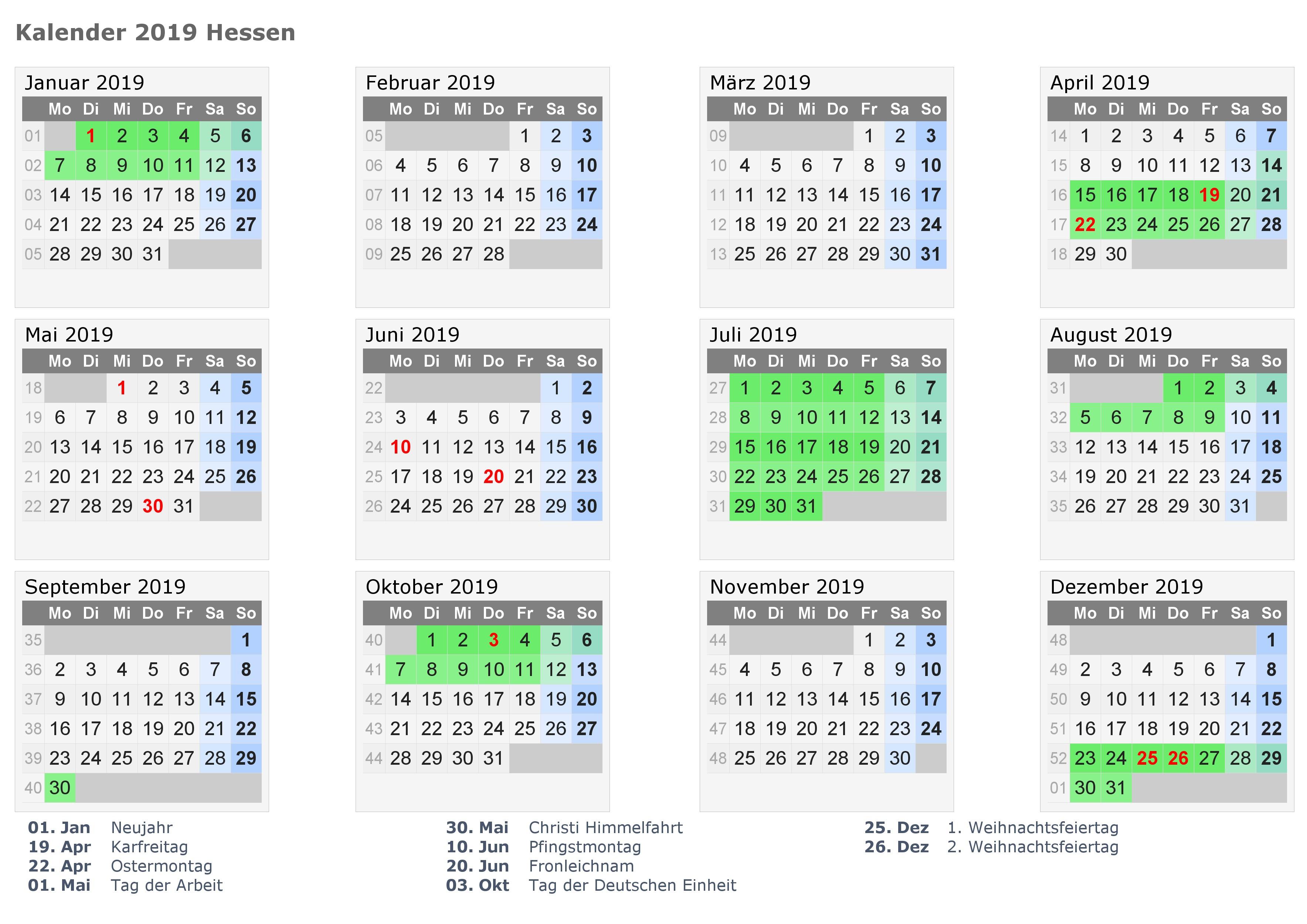 Kalender 2019 Indonesia With Ferien Feiertage Excel PDF Vorlagen