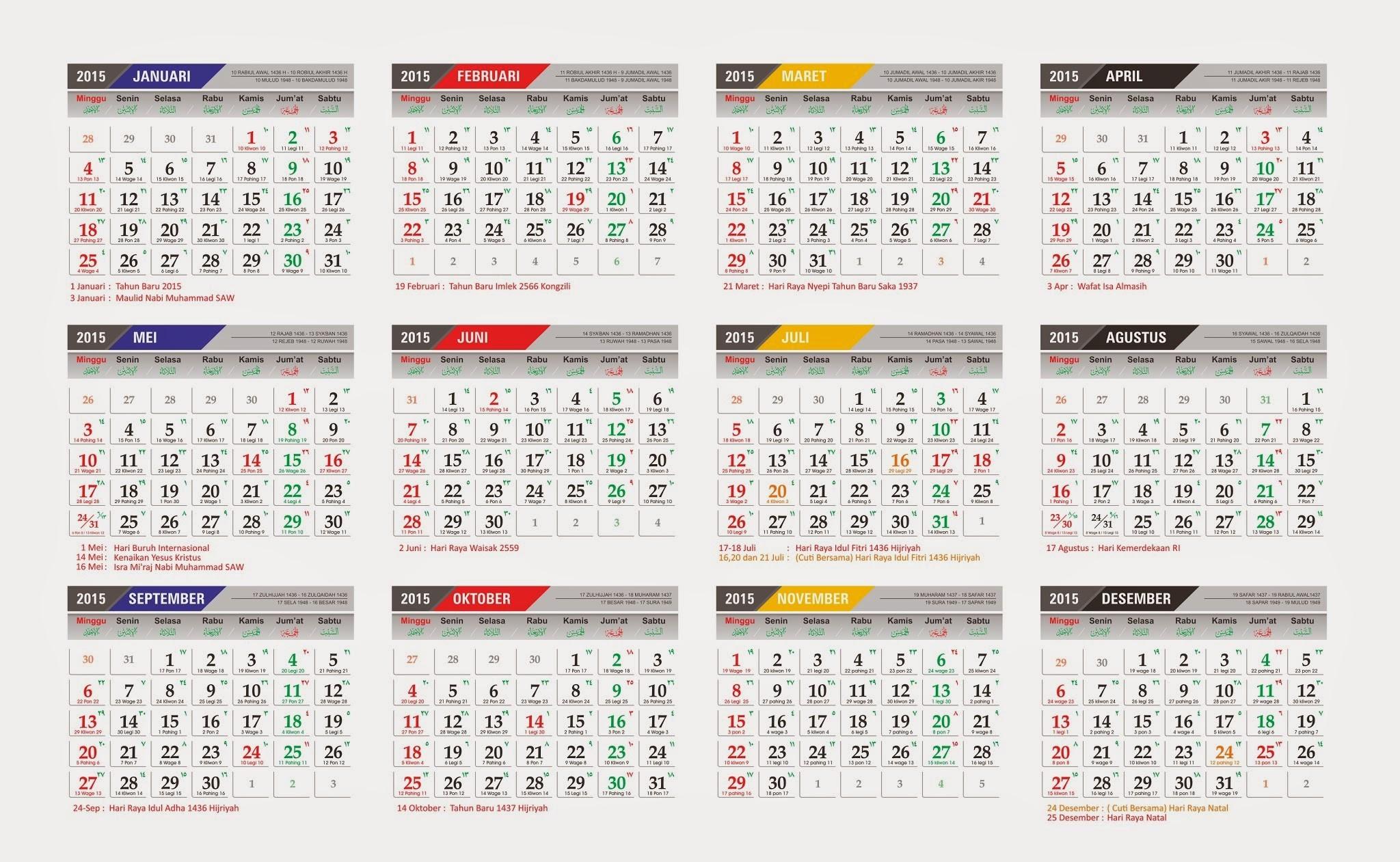 kalender indonesia 2015 online kalender 2015