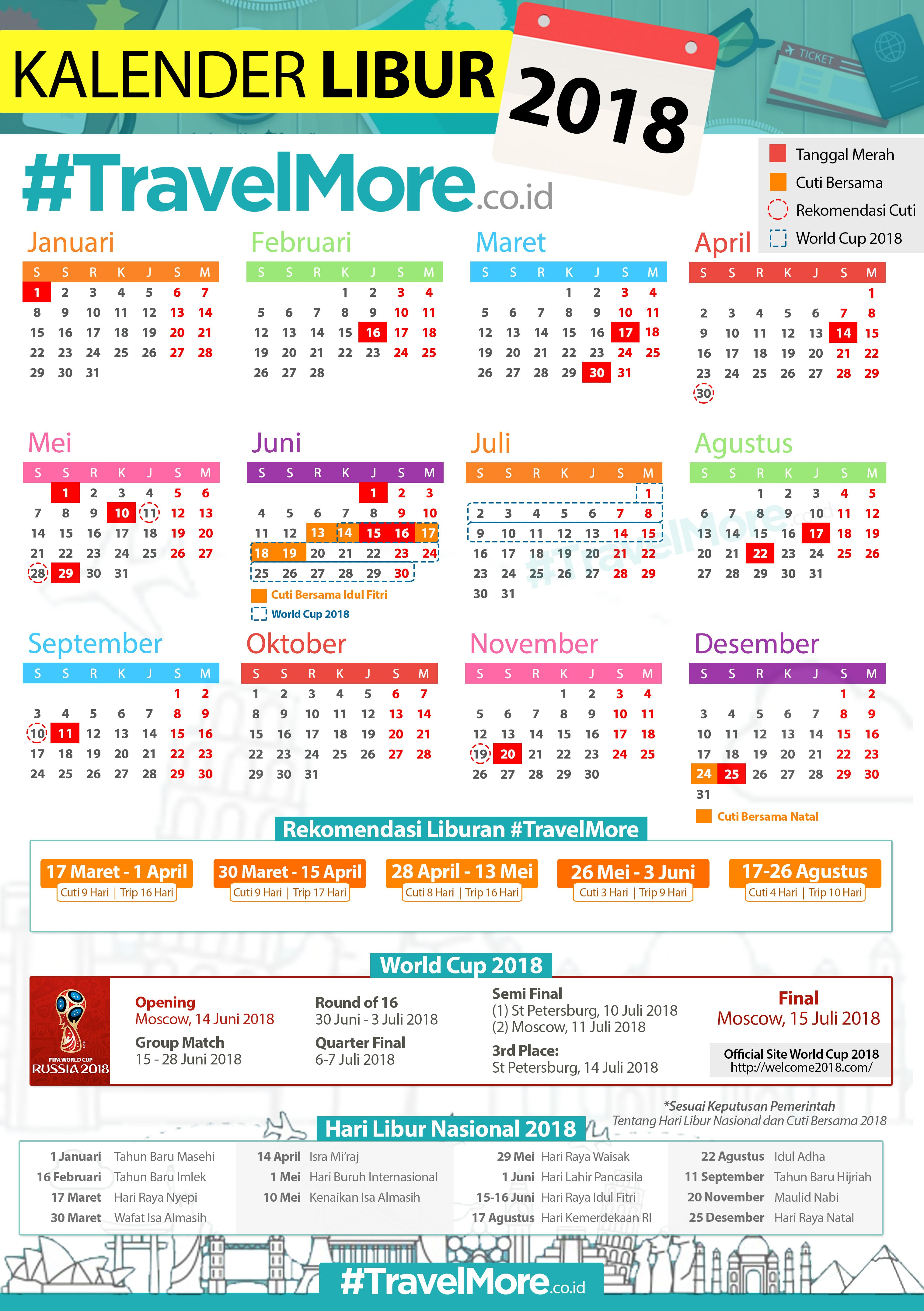 Download Kalender Libur 2018 3 Mb