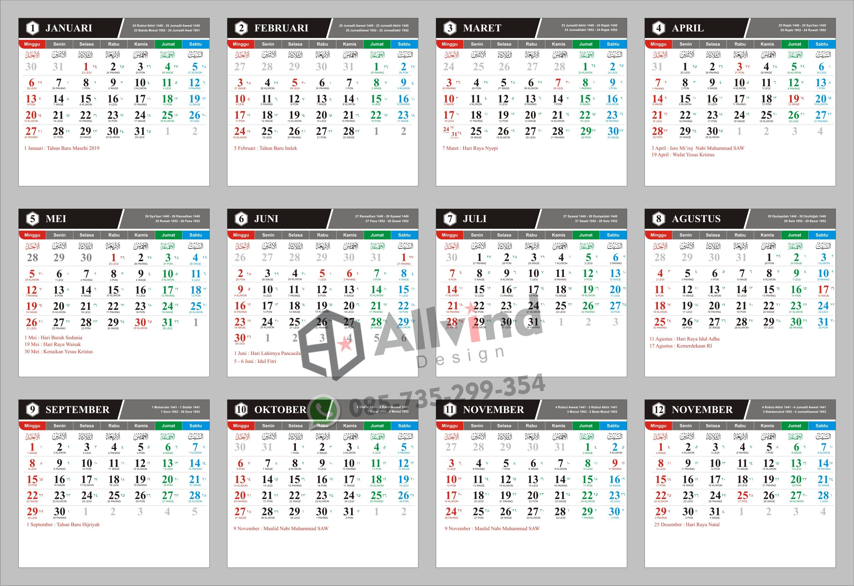 Kalender 2019 Murah Más Recientes Gratis Kalender Personalisierte Kalender