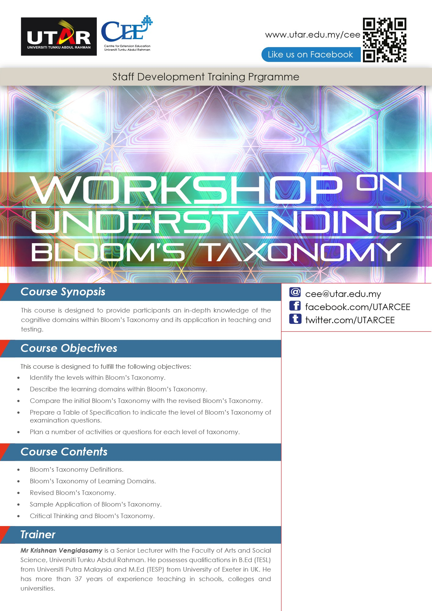 Workshop on Understanding Bloom s Taxonomy SL