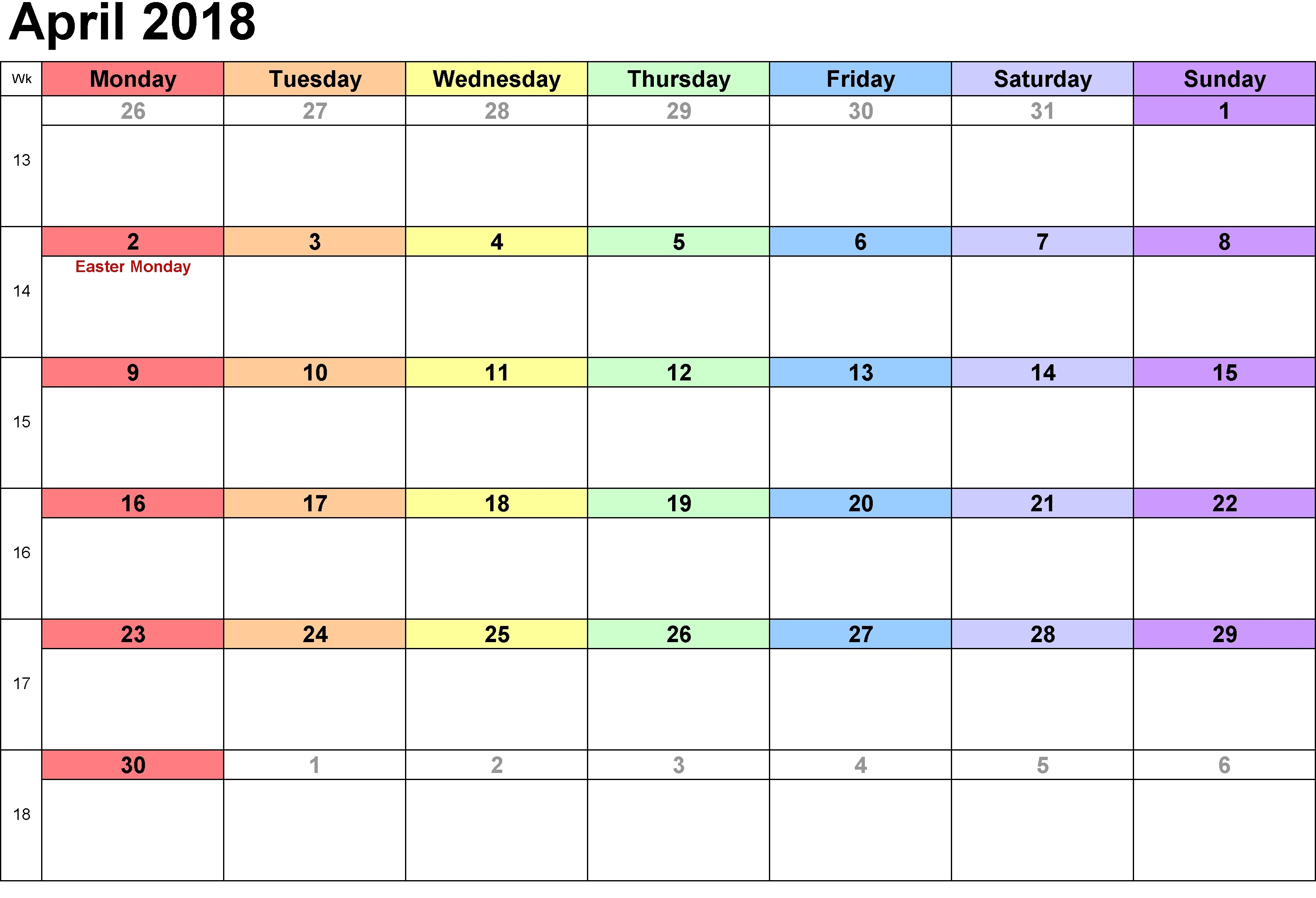 January 2019 Calendar Uae April 2018 Printable Calendar