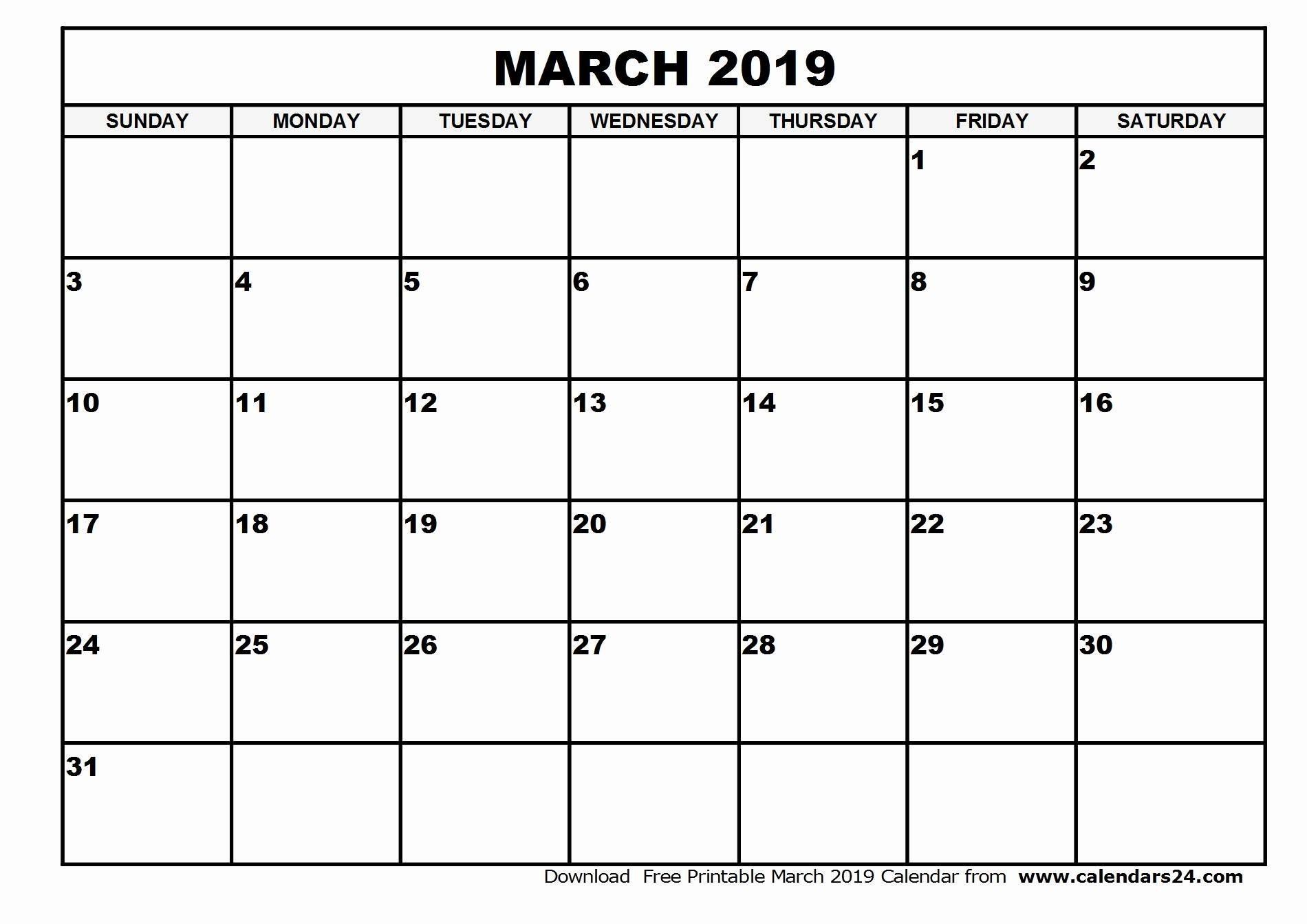 2019 Calendar Printable Colorful New Printable March 2019 Calendar Calendar 2019 2019 Calendar Printable Colorful
