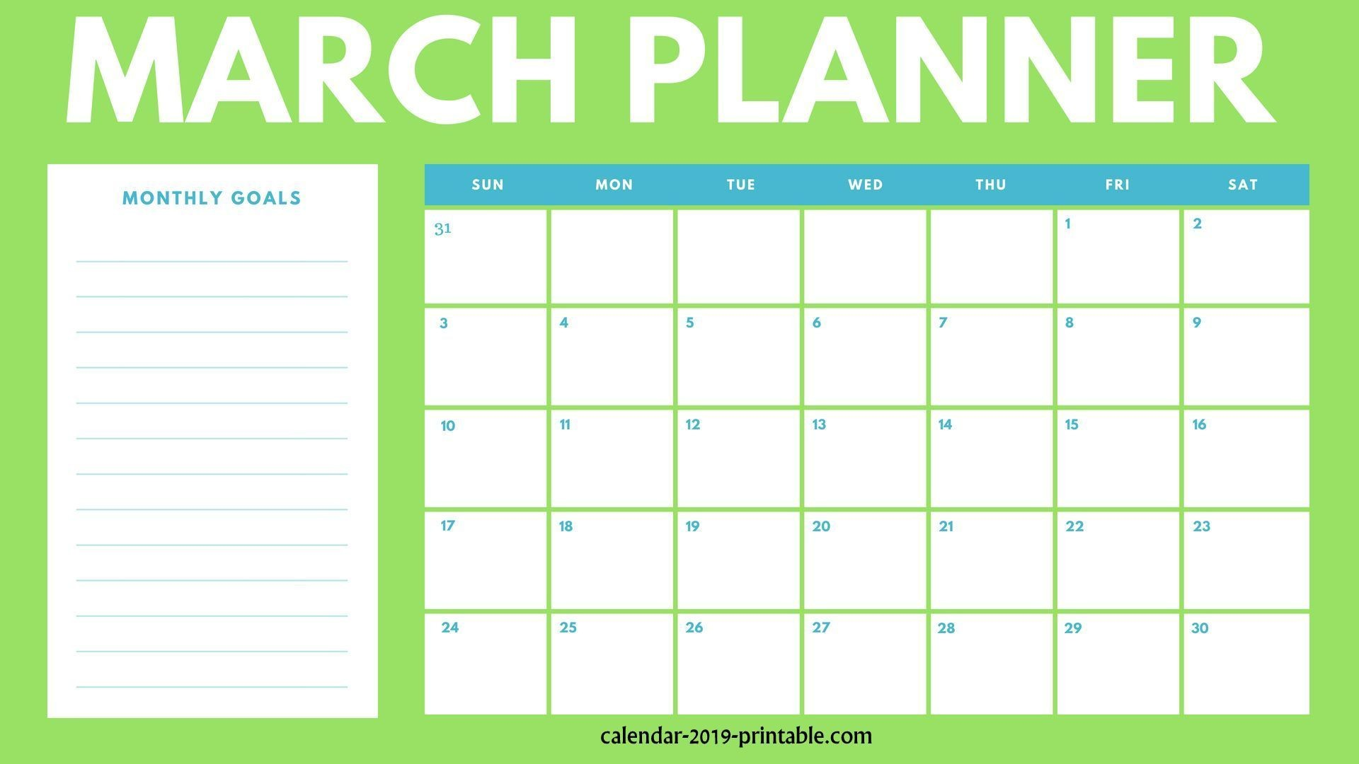 march 2019 planner monthly calendar monthly planners calendar