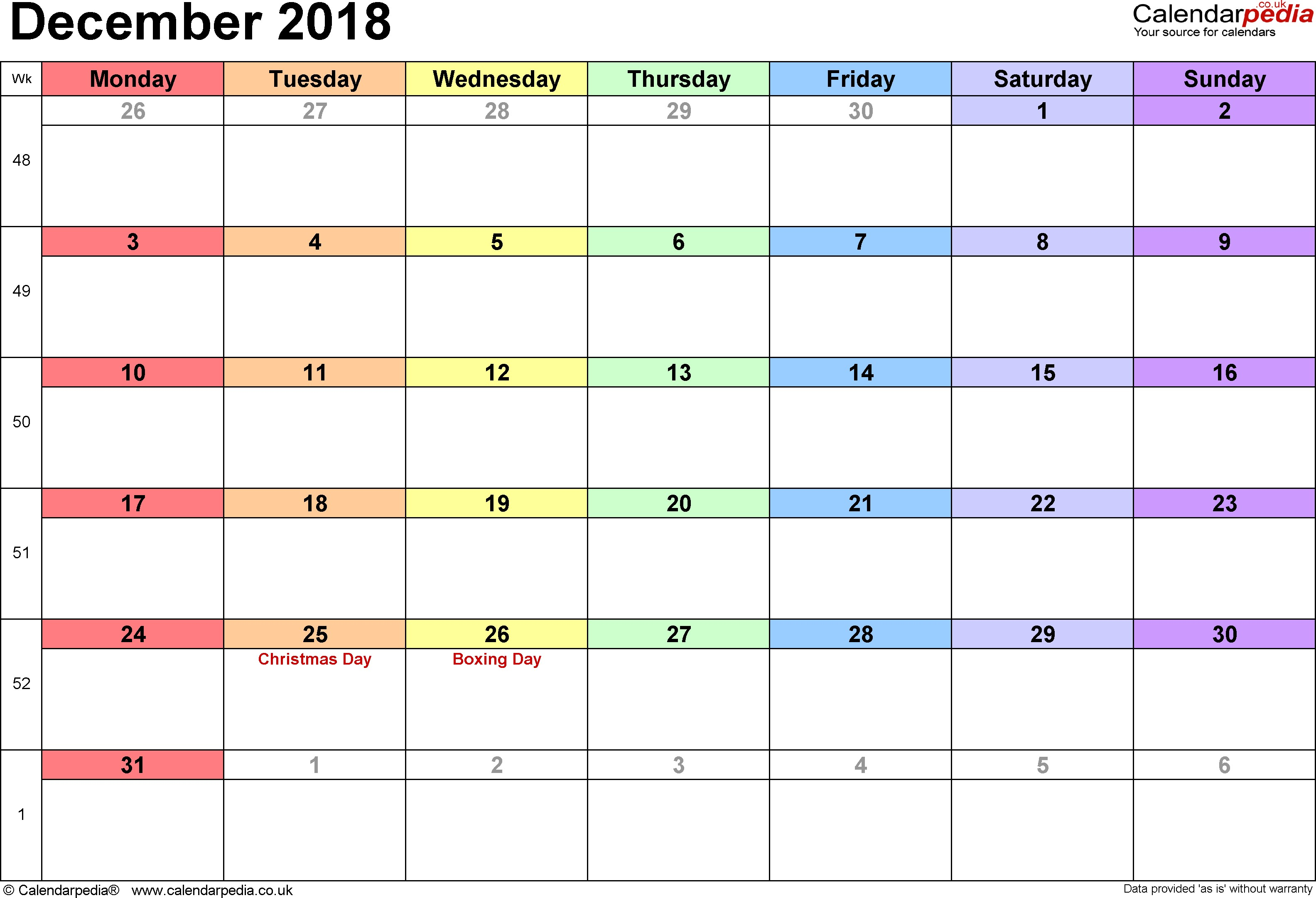 Free Printable Calendars and Planners 2019 and 2020