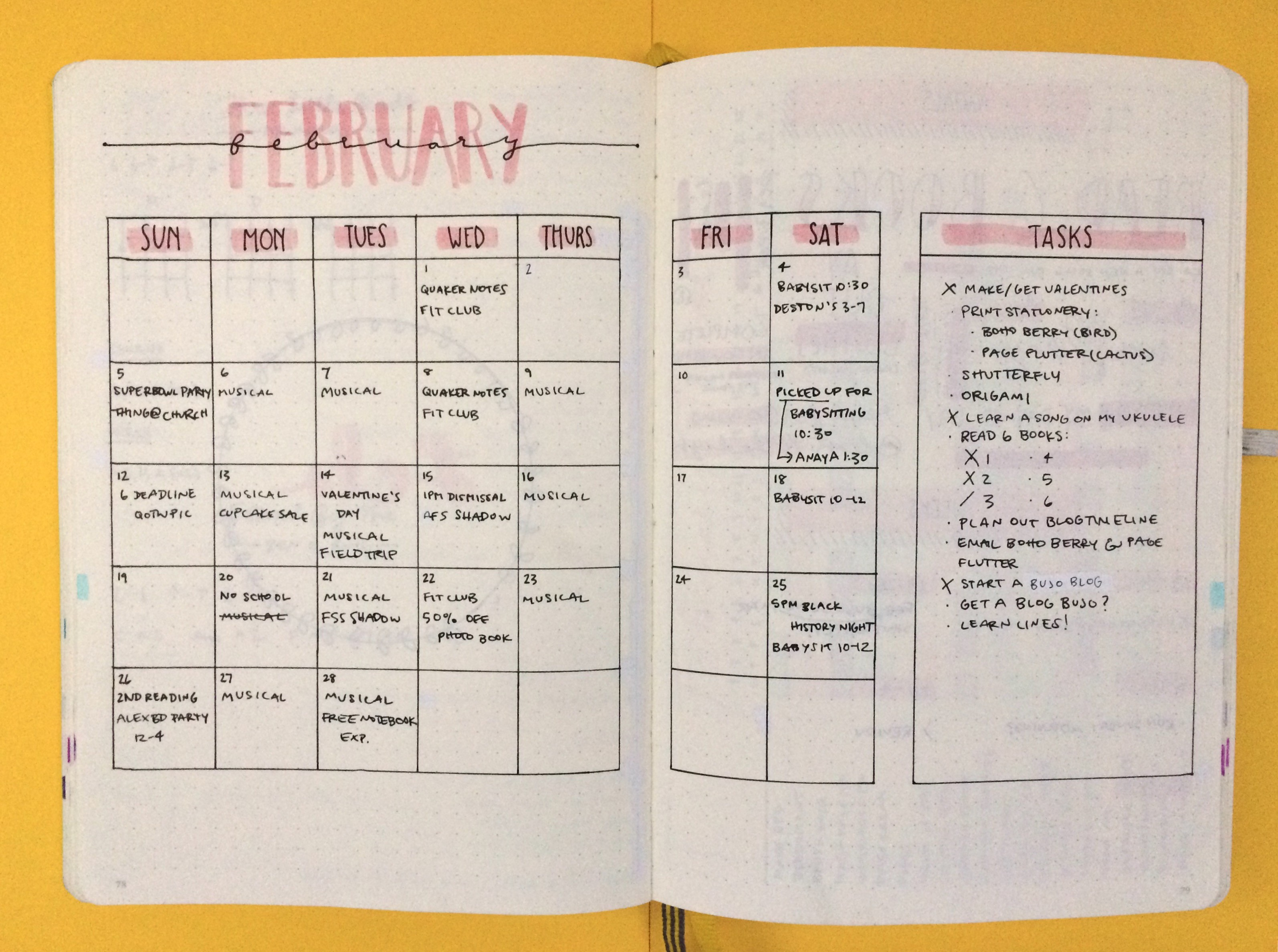 February Monthly Log