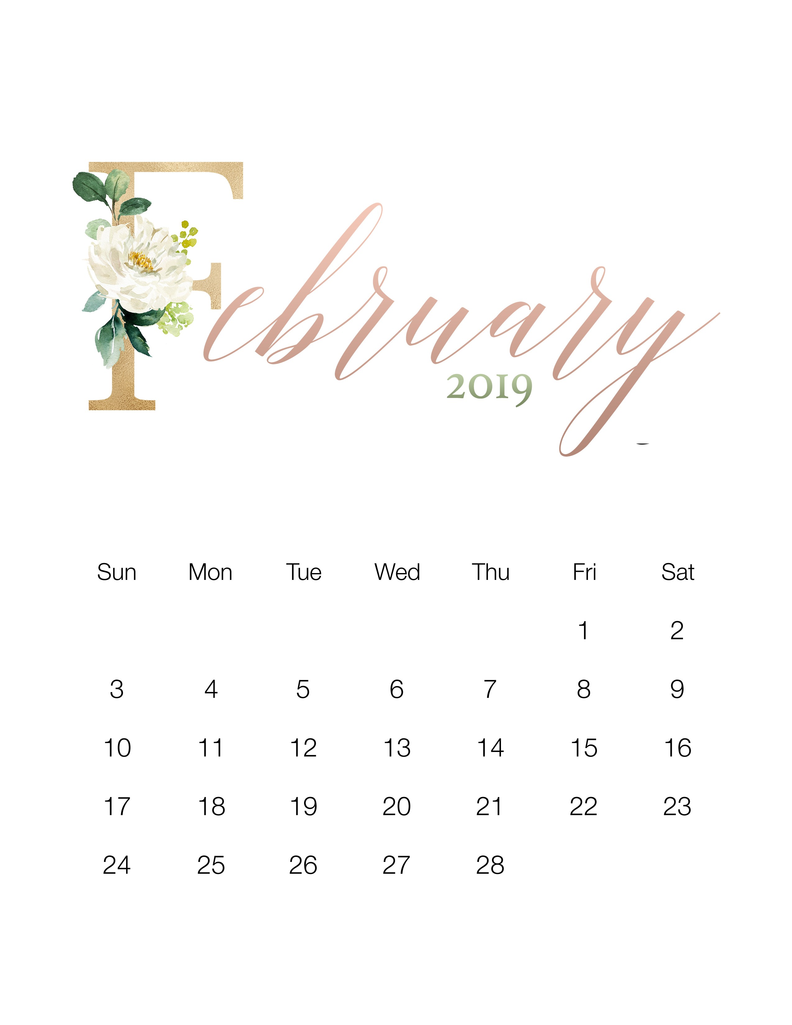 March Calendar 2019 Actual Pretty Floral Free Printable 2019 Calendar the Cottage Market Of March Calendar 2019 Actual Gujarati Calendar 2019 Printable Printed for No Cost – Calendaro