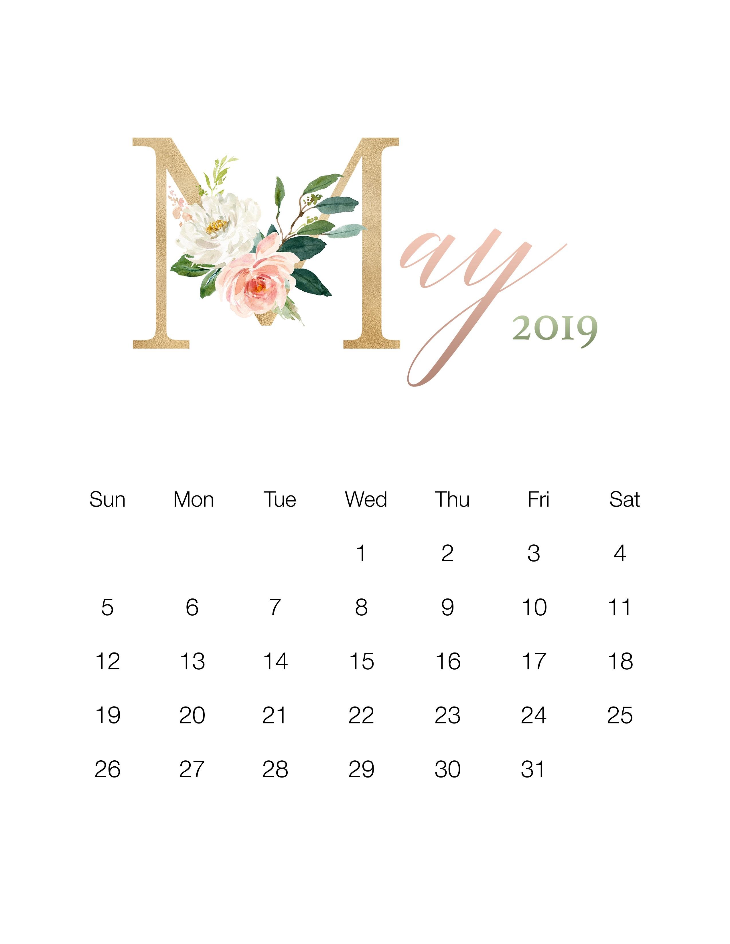 March Calendar 2019 Más Arriba-a-fecha Pretty Floral Free Printable 2019 Calendar the Cottage Market Of March Calendar 2019 Actual Gujarati Calendar 2019 Printable Printed for No Cost – Calendaro