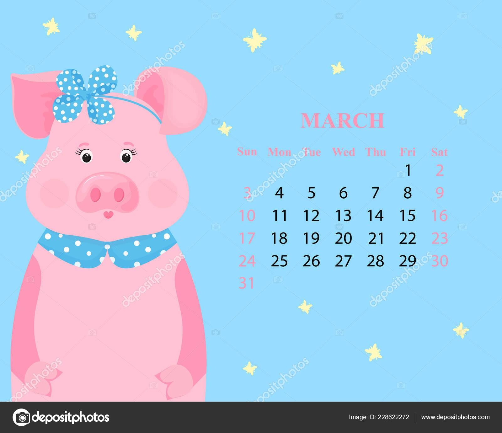 March Calendar 2019 Más Recientemente Liberado MěsÄn Kalendář Březen 2019 Roztomil½ Prase V Obruč S Lukem A Of March Calendar 2019 Actual Gujarati Calendar 2019 Printable Printed for No Cost – Calendaro