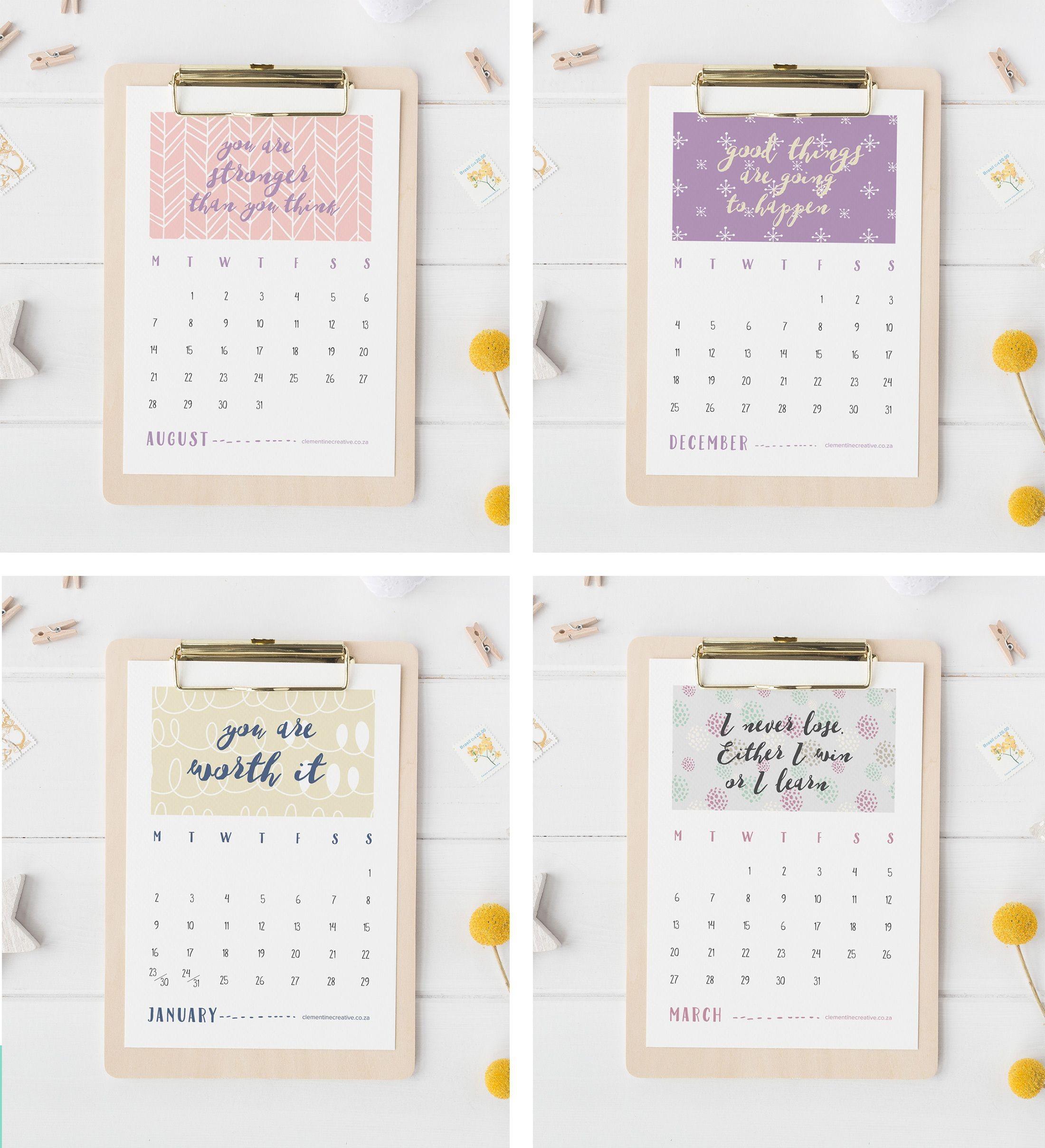 march calendar quotes