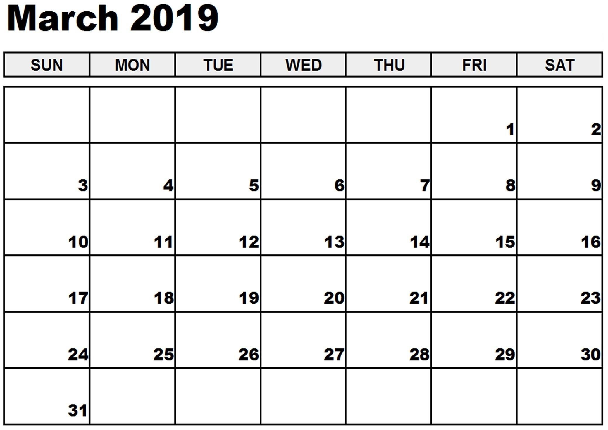 Calendar Holidays March 2019 Download Calendar