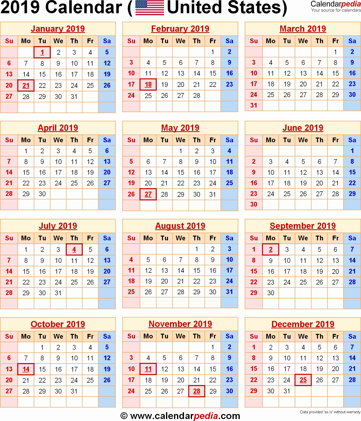 Post fice Holiday Schedule 2018 March 2019 Calendar with Holidays 2018 Calendar Printable
