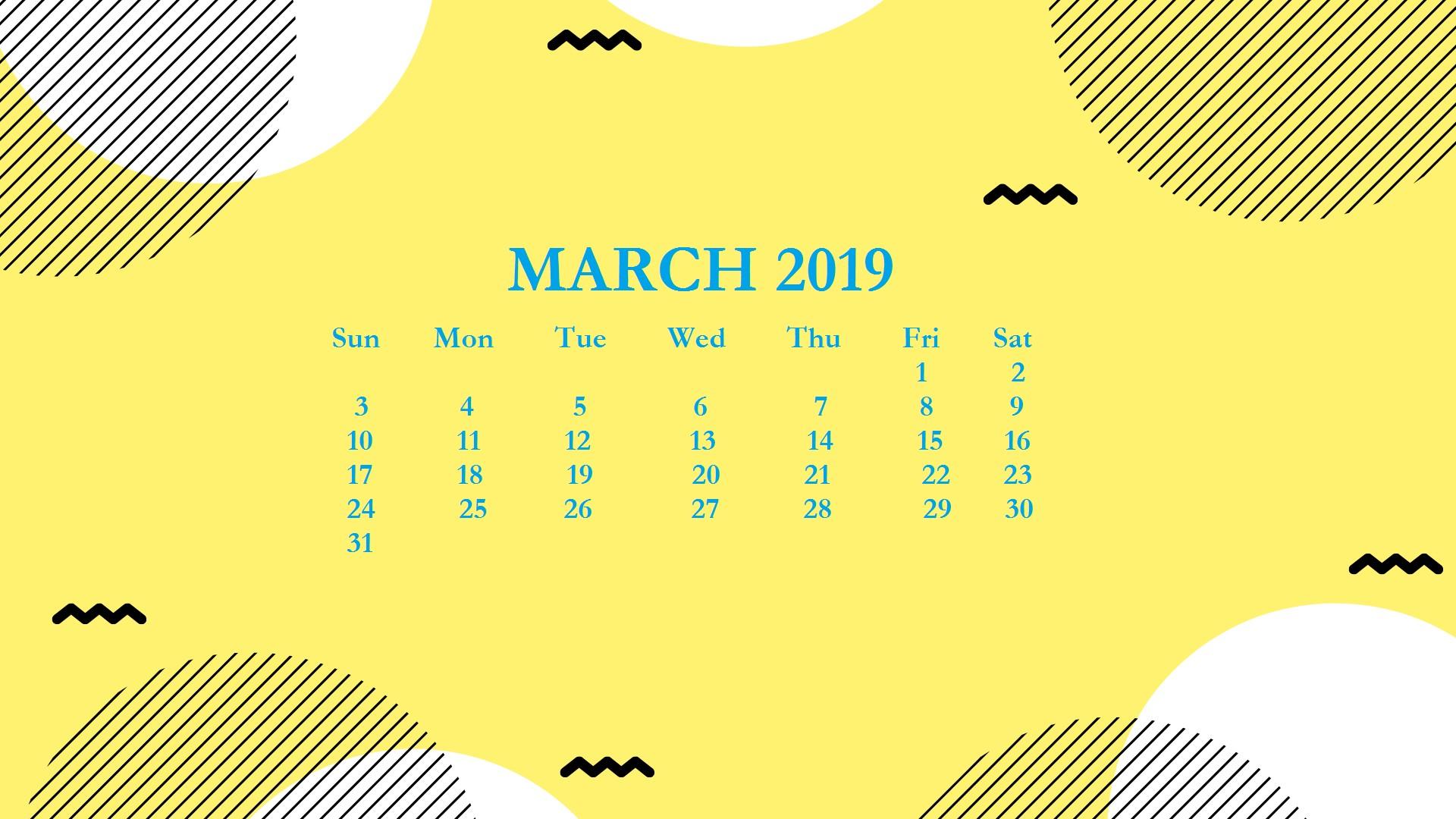 March 2019 Calendar Wallpaper for Desktop March2019 2019Calendar DesktopCalendar