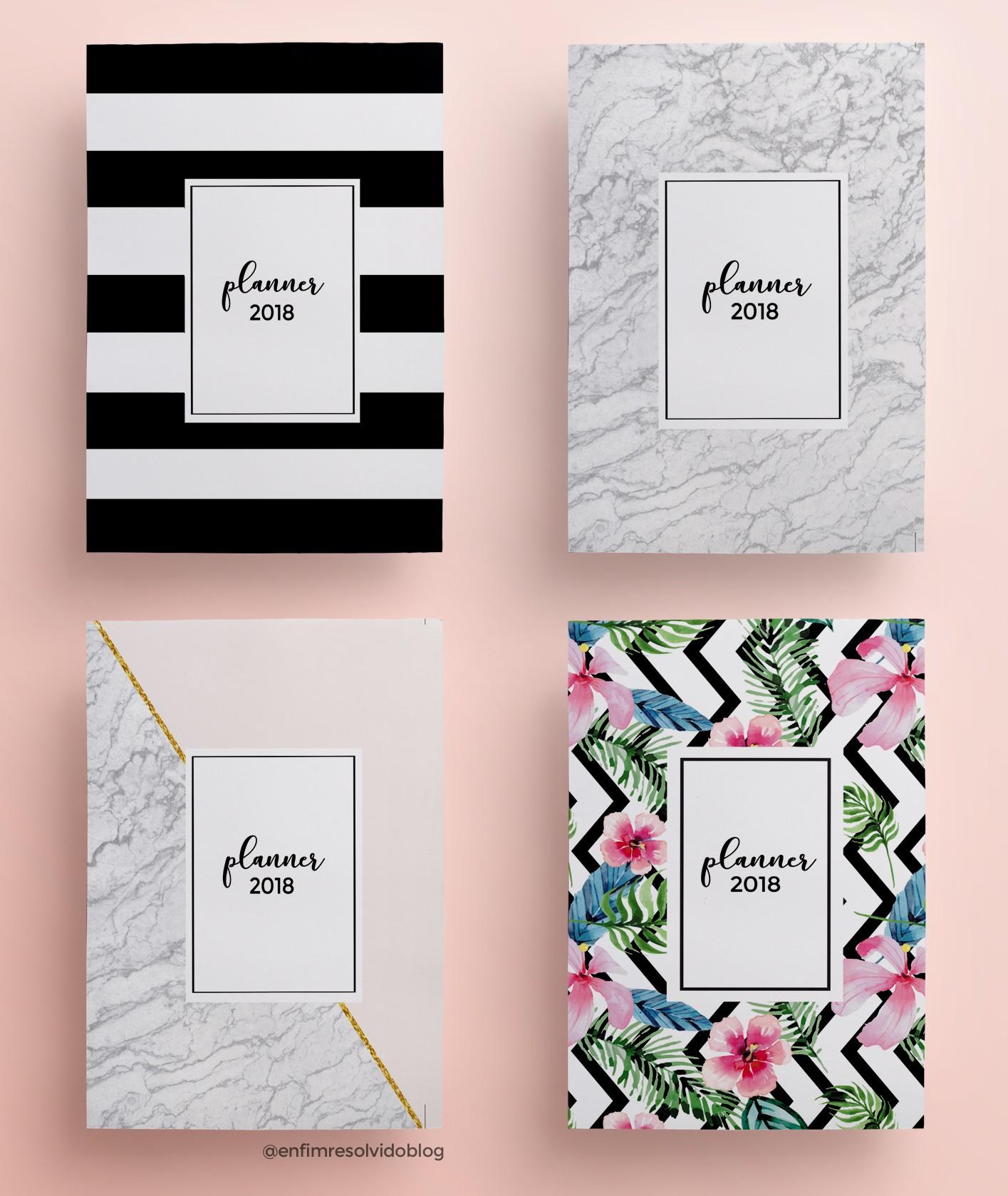 Download do planner 2018 vers£o P&B minimalista