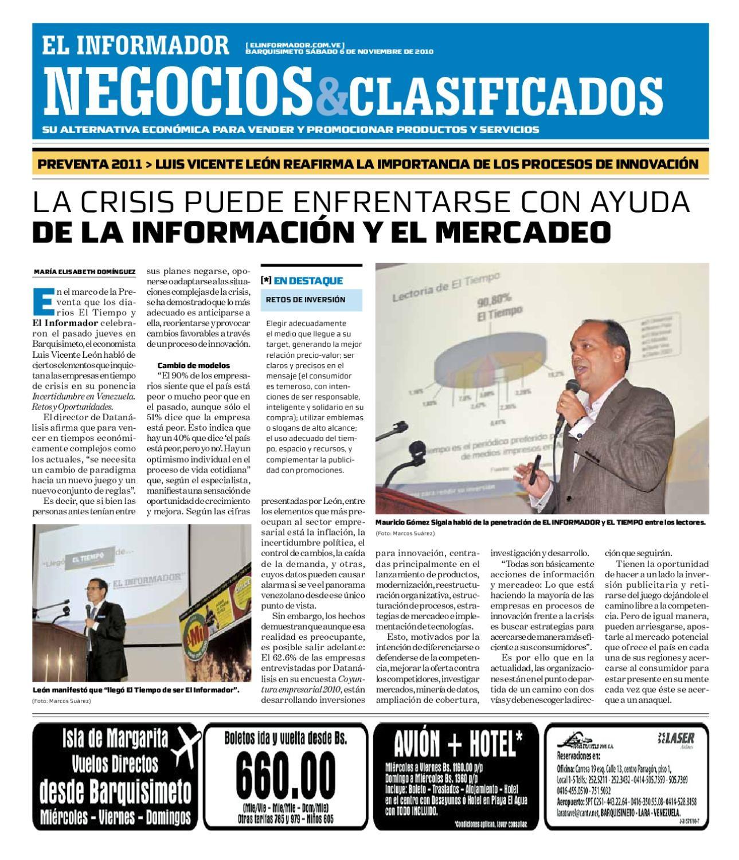 negocios y clasificados 2010 11 06 by El Informador Diario online Venezolano issuu