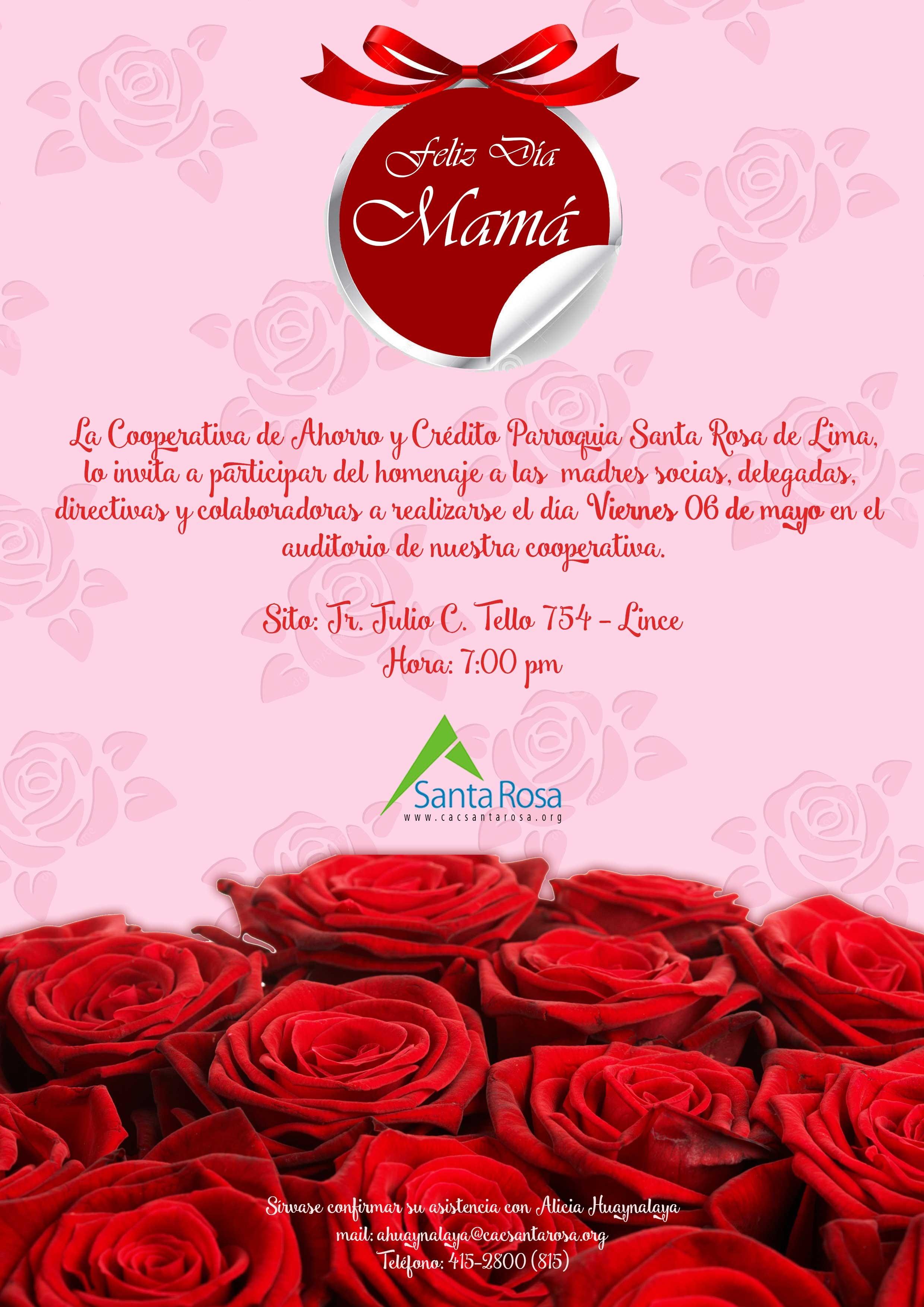 Invitaci³n Celebraci³n Da De La Madre