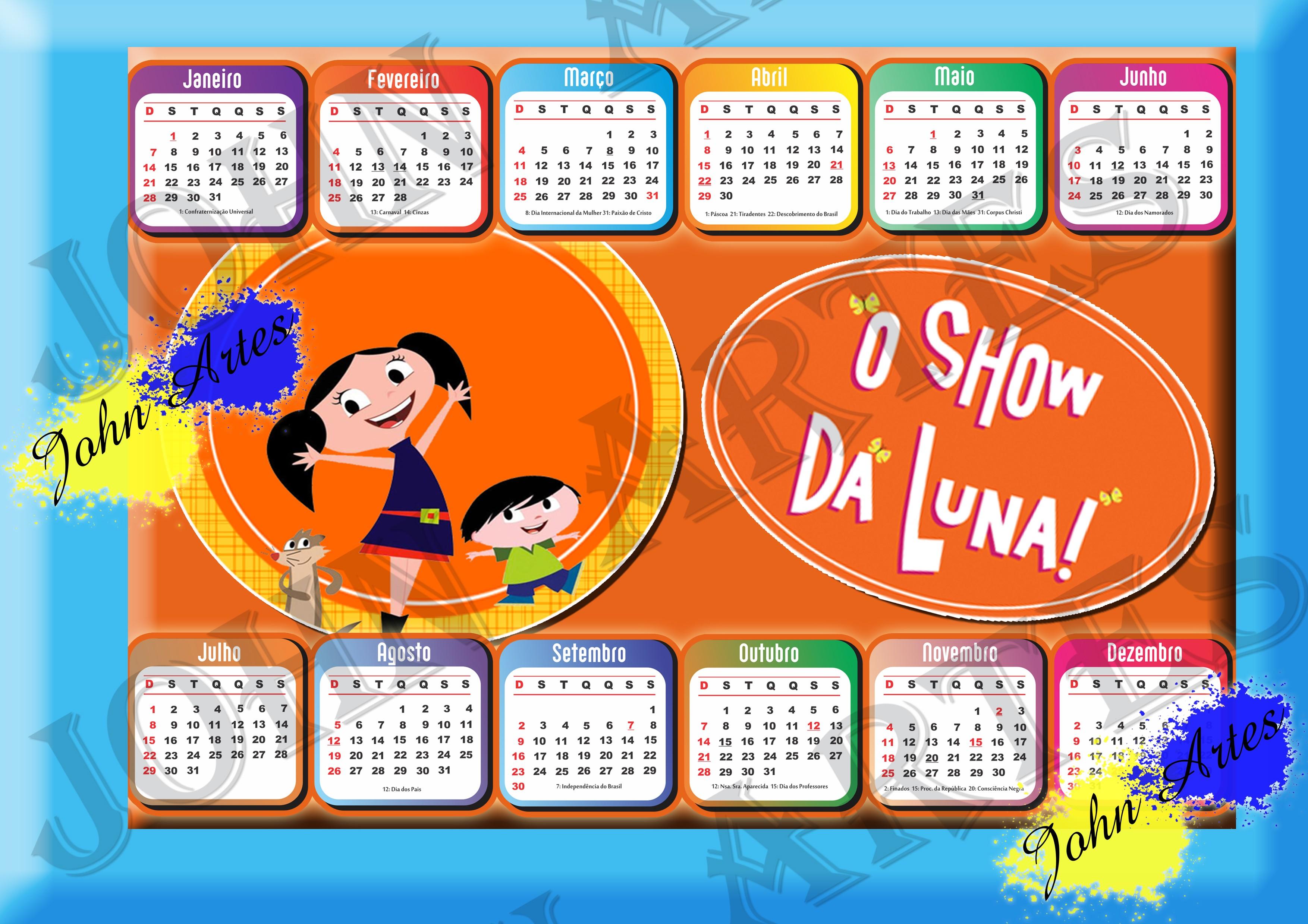 calendario 2018 arte digital show da luna calendario