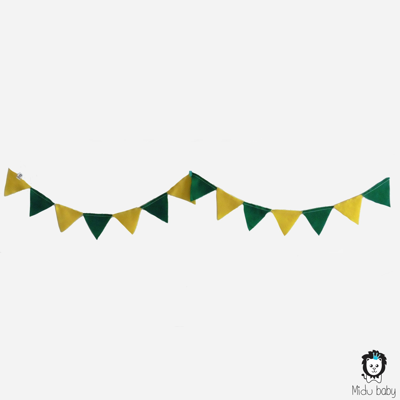 Varal bandeirinha verde amarelo copadomundo brasil vaibrasil festabrasil mesversario festainfantil