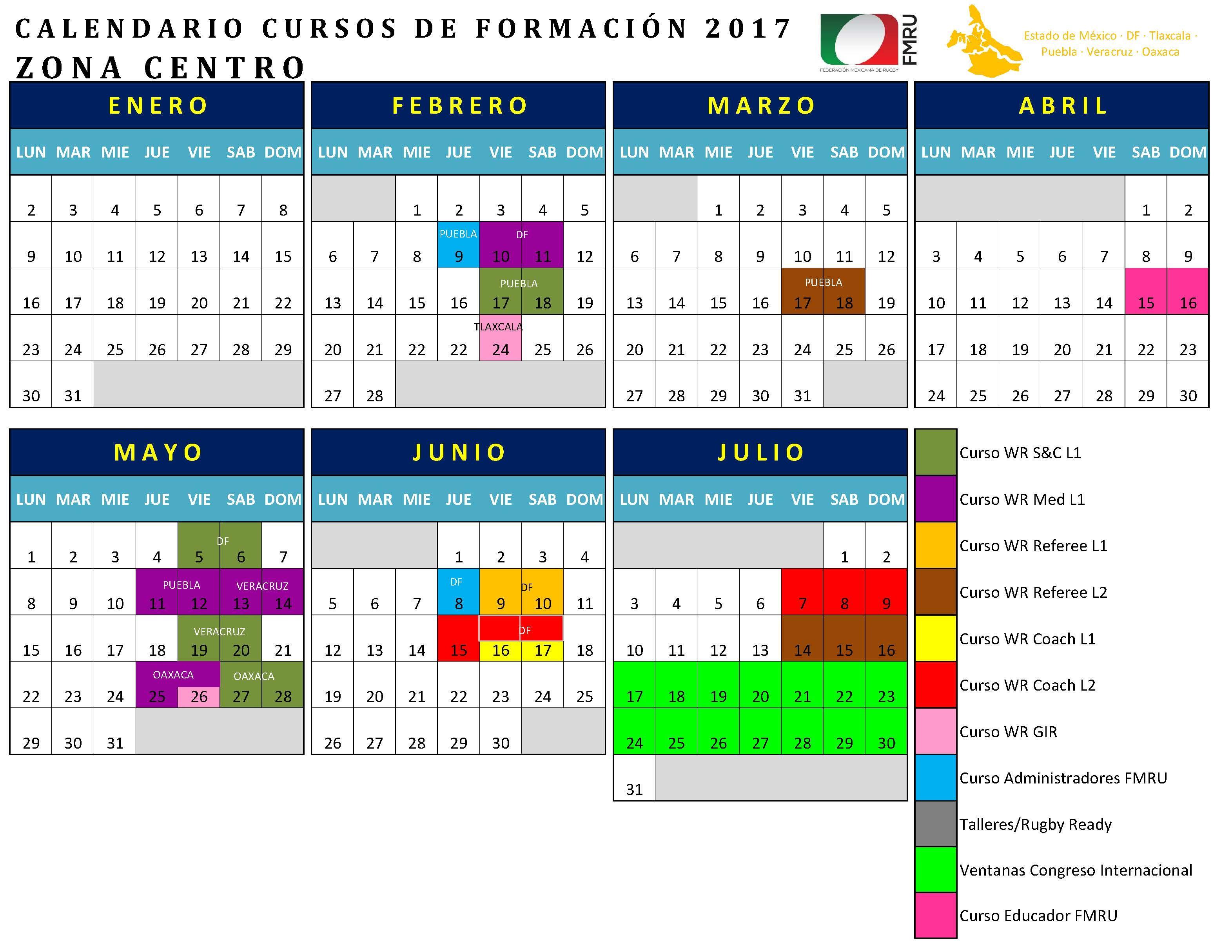CALENDARIO FORMACIÓN 2017 Página 2