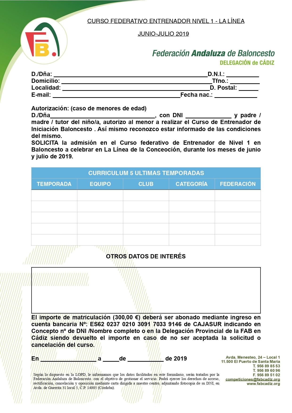 La Li´nea INSCRIPCION Nivel 1 page 0001