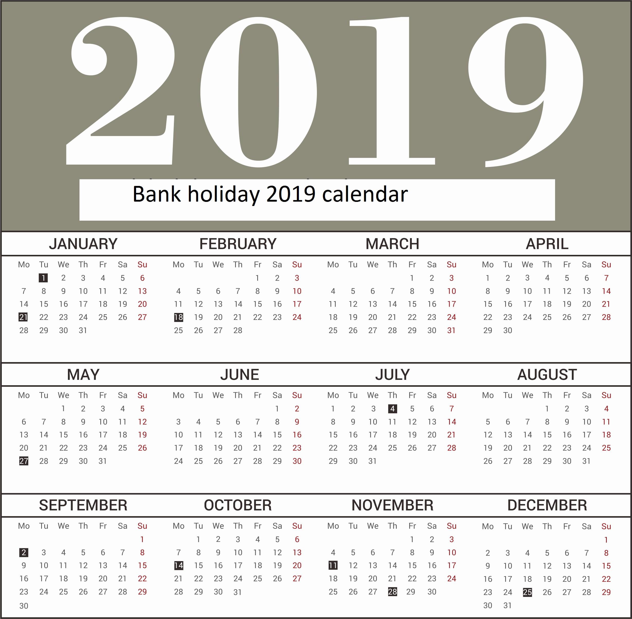 Calendario 2020 Word Plantilla Más Actual Uk Bank Holidays
