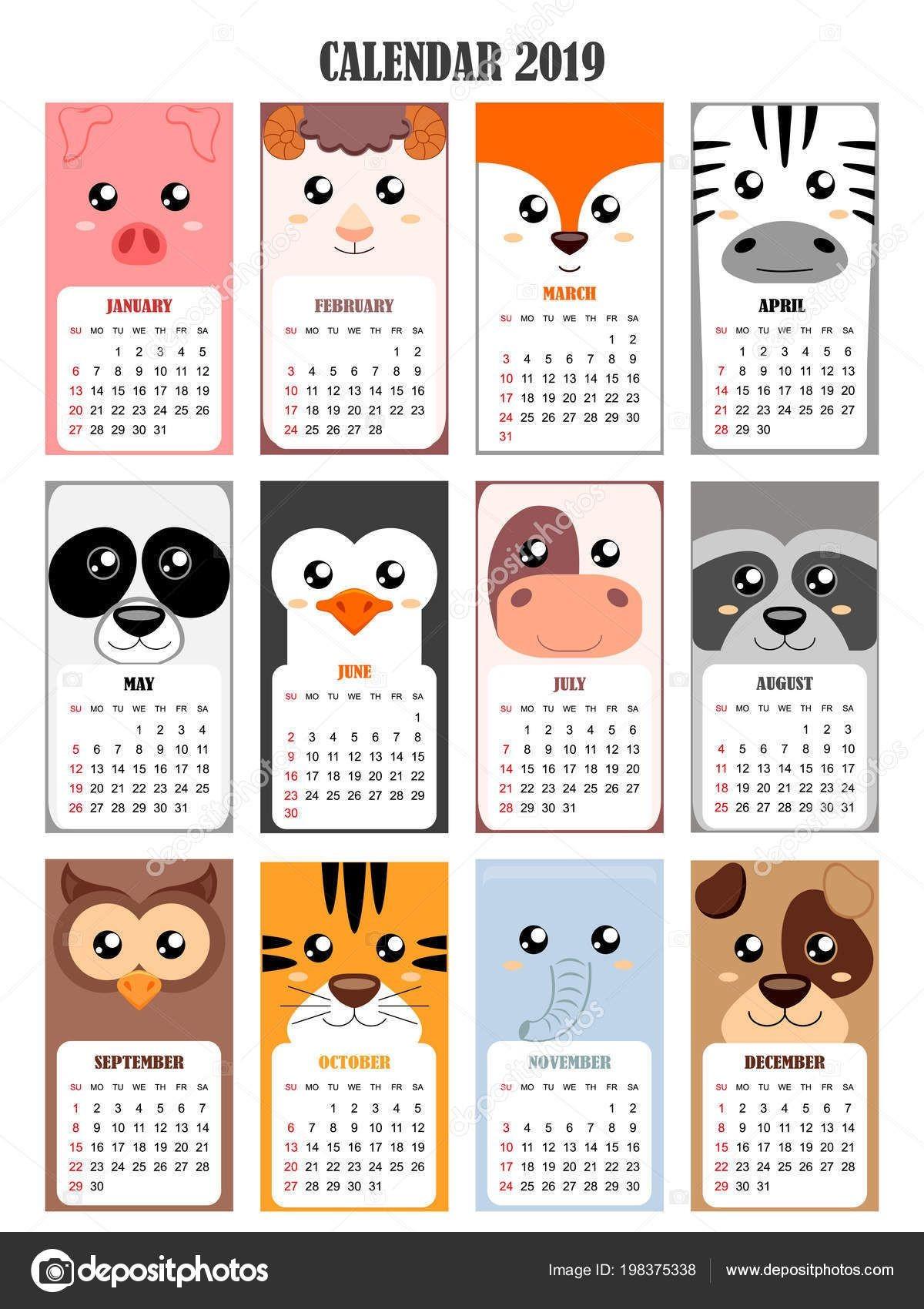 Calendario De Agosto A Dezembro 2019 Para Imprimir Más Recientes Calendarios 2019 Para Ni±os Para Descargar E Imprimir