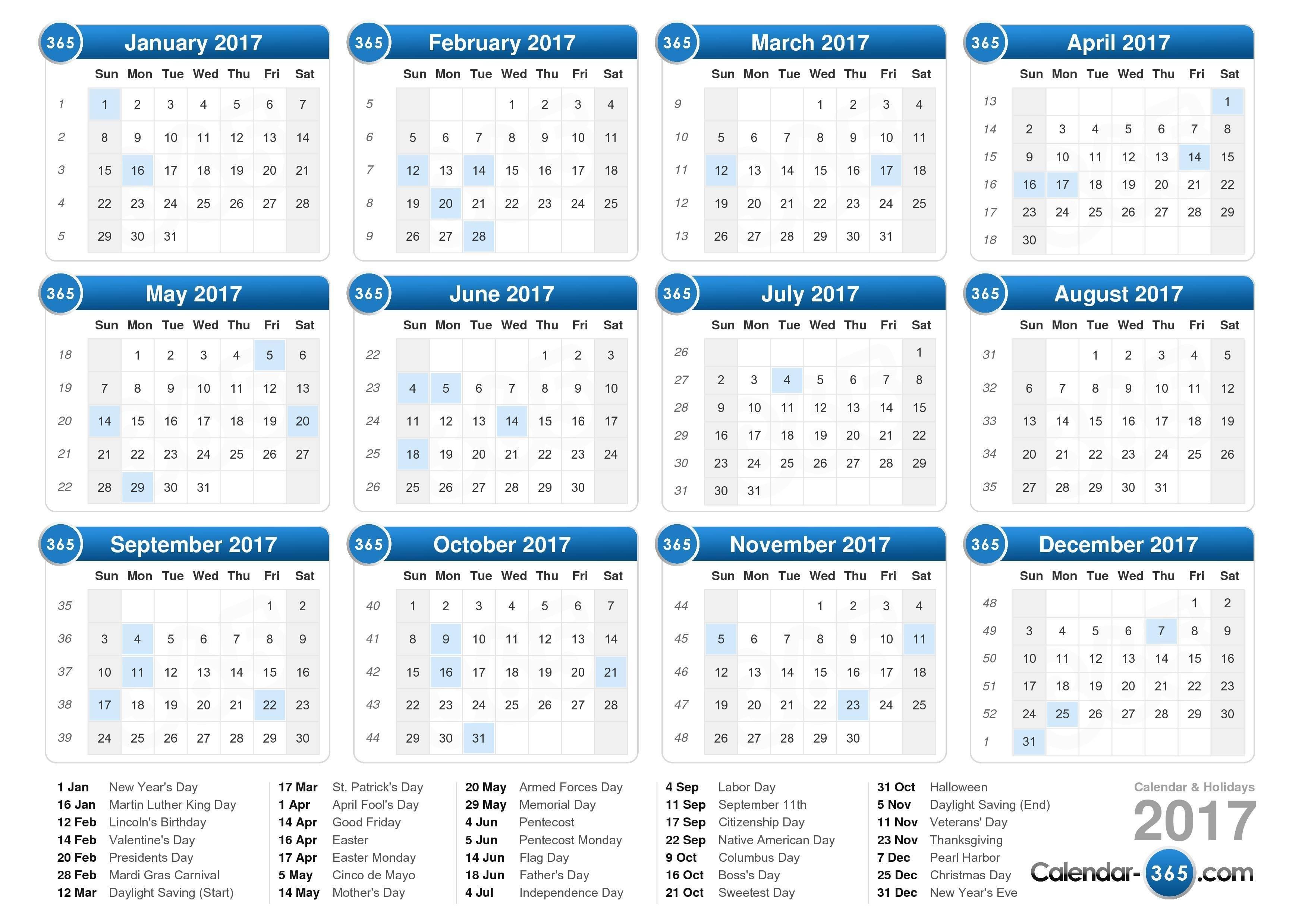 2017 calendar mexican calendar 2017