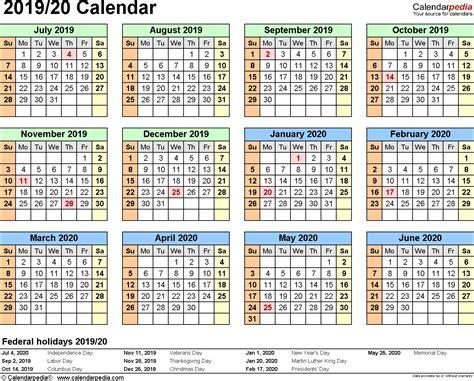 2020 Calendar Printable Pdf Australia Calendario 2019