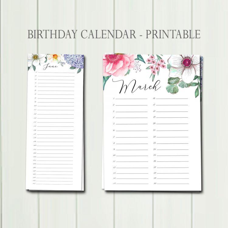Calendario 2021 Gratis Para Imprimir Más Recientemente Liberado Printable Birthday Calendar Perpetual Birthday Calendar