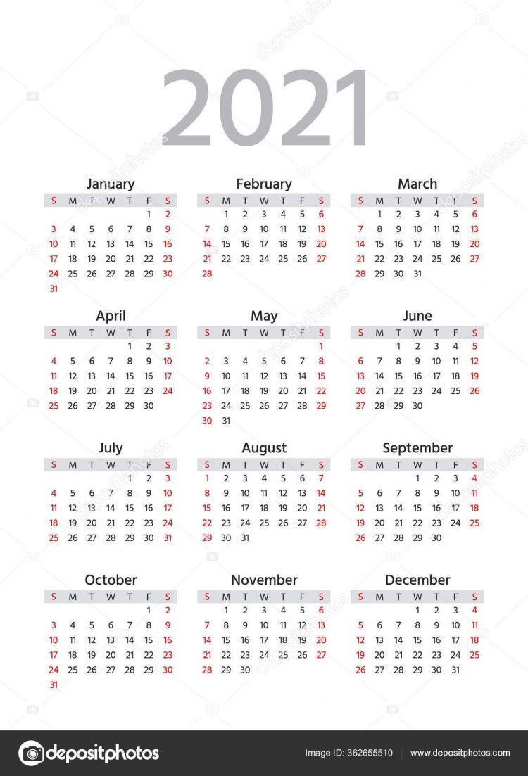 Calendario 2021 Numero De Semanas Más Actual Calendario 2021 La Semana Ienza El Domingo Plantilla De A±o Simple De Calendarios De Bolsillo O Pared organizador Anual Dise±o De Papelera En