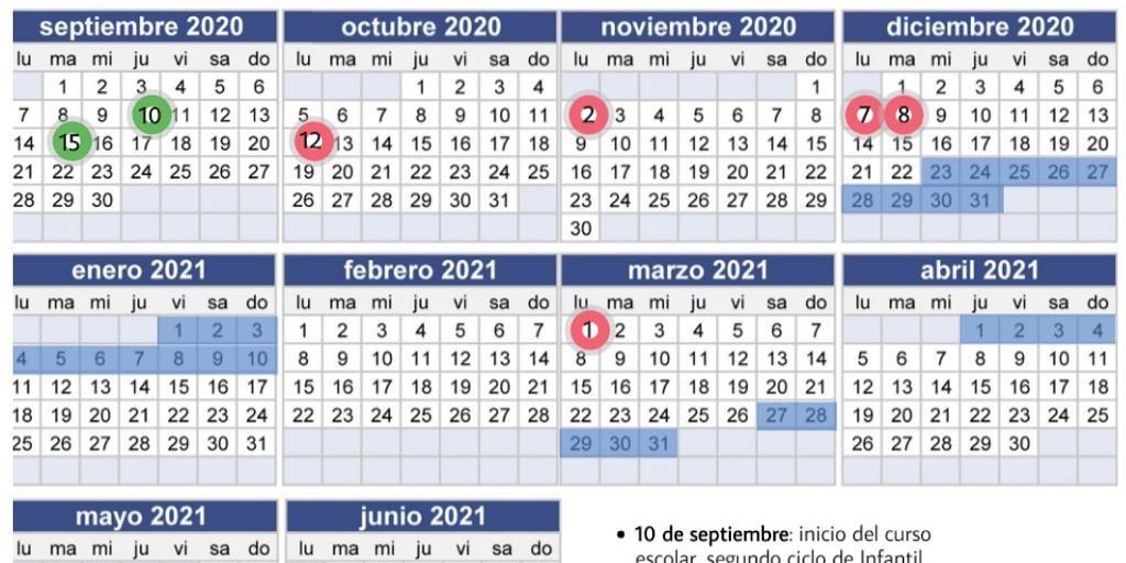 sevi cinco puentes y vuelta escalonada calendario escolar andalucia curso noticia