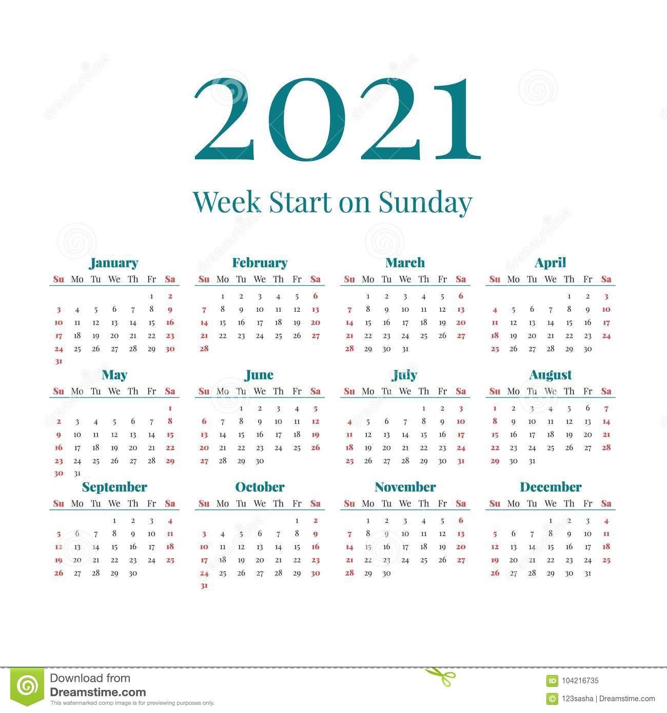 un calendario semplice da anno image