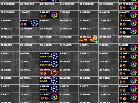 Barcelona Calendario Más Recientes Calendario De Partidos Del F C Barcelona Temporada 2010