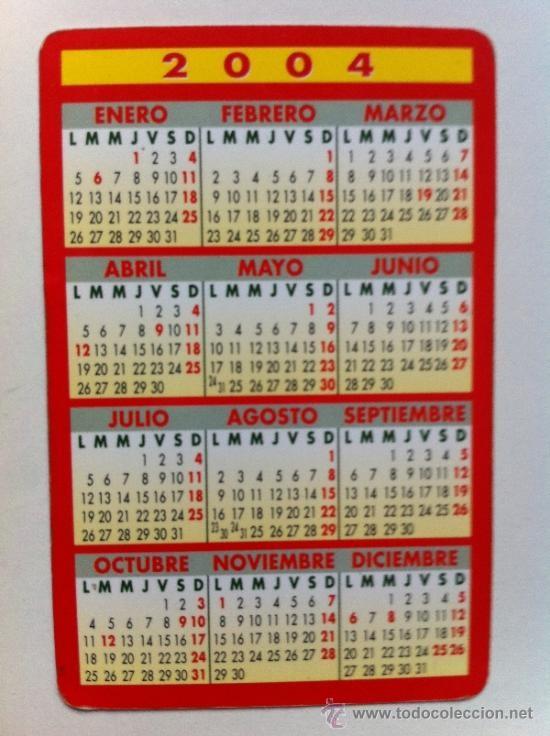 calendario bolsillo tele taxi valencia 2004 x