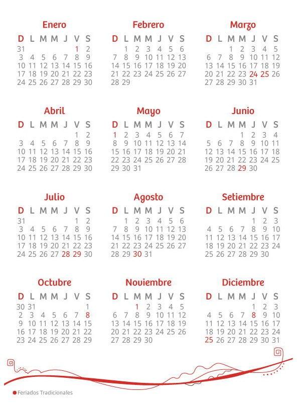 calendario de feriados