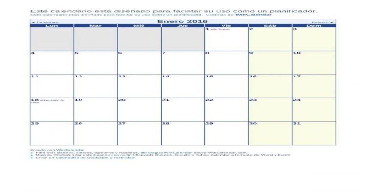 Calendario 2016 Peru Más Recientes Calendario 2016 Con Feriados De Perú Web Viewoctubre 2016