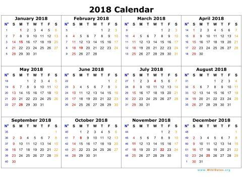 Calendario 2018 Pdf Recientes 2018 Calendar