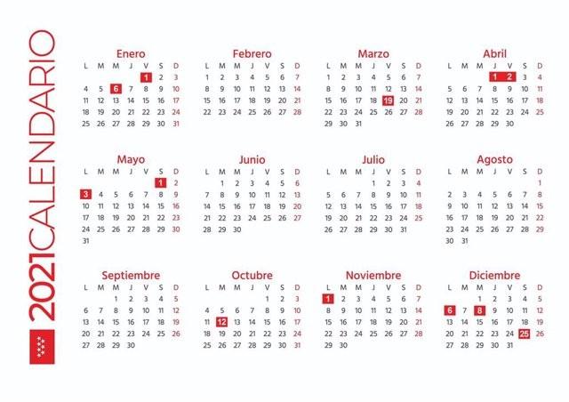 Calendario 2021 Madrid Más Recientes Madrid Estrena Calendario Laboral 12 Festivos Y Otros Dos