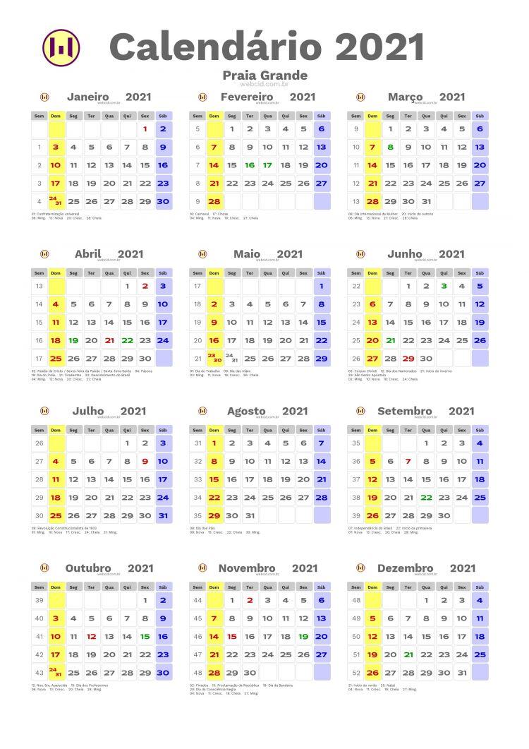Calendario 2021 Numeros Grandes Actual Calendário 2021 Em formato Png Praia Grande
