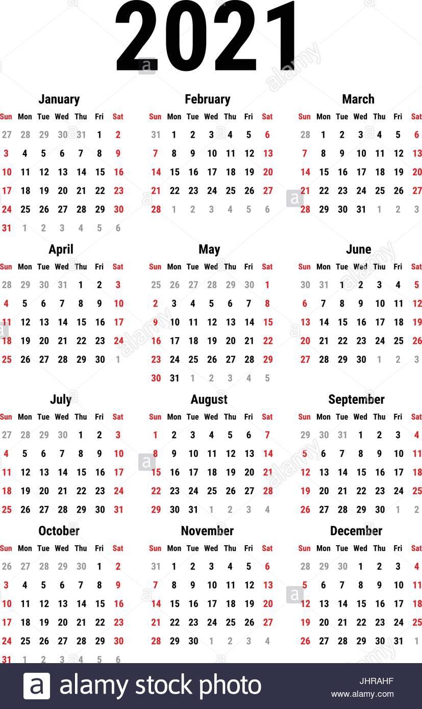 foto calendario para 2021