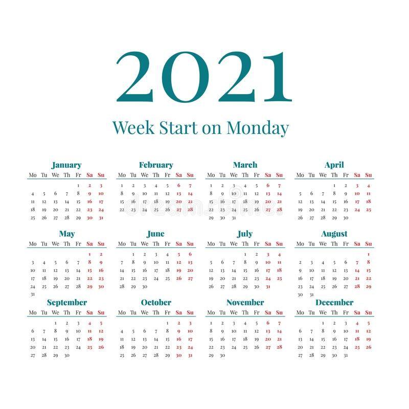calendário números grandes image