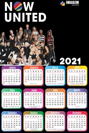 calendario 2021 now united para montagem de foto