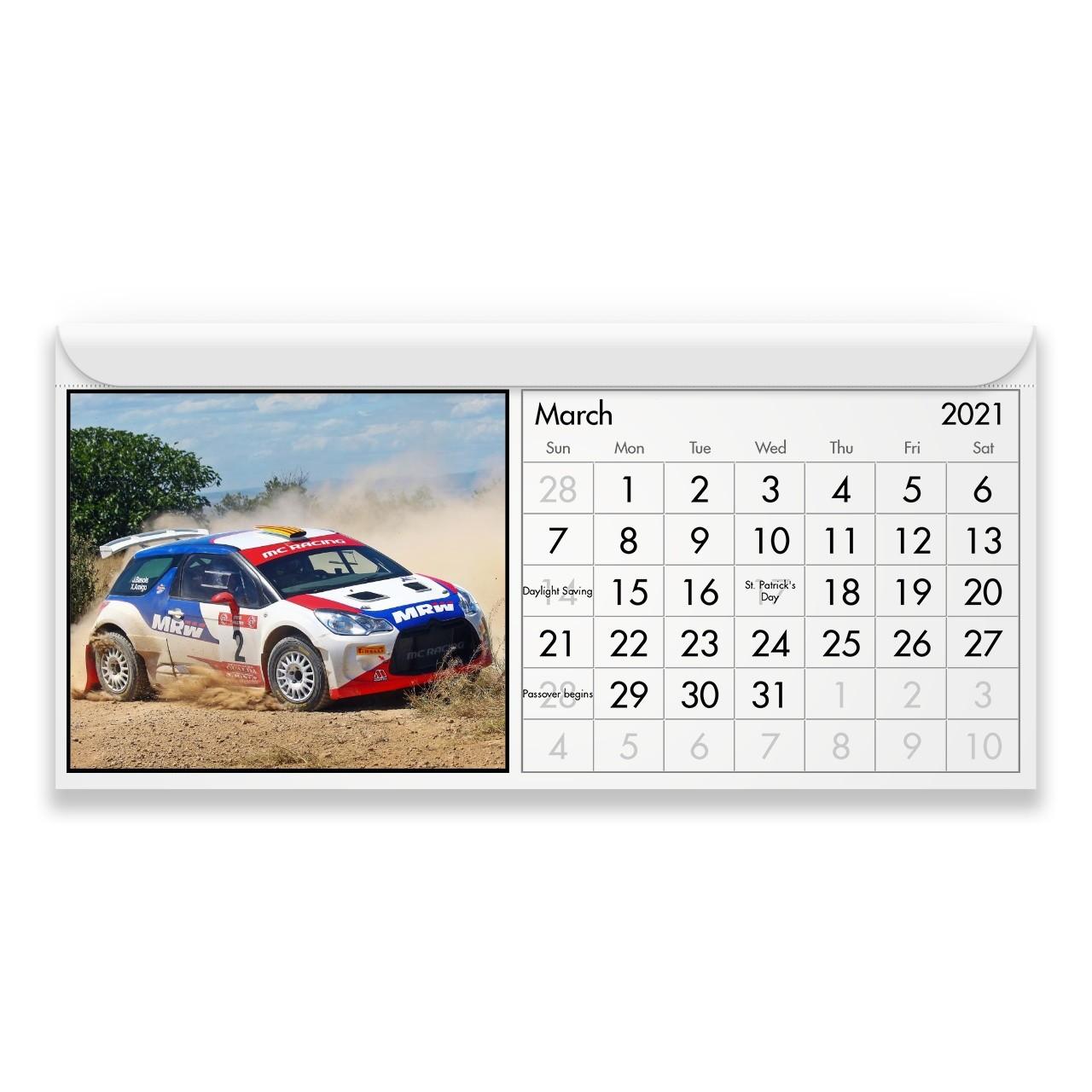 Rally 2021 Calendario Magnetico p