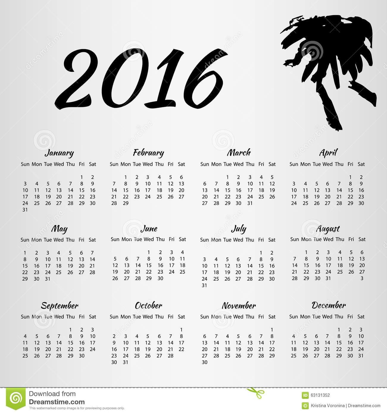 stock de ilustración calendario con la mancha de tinta en el fondo blanco image
