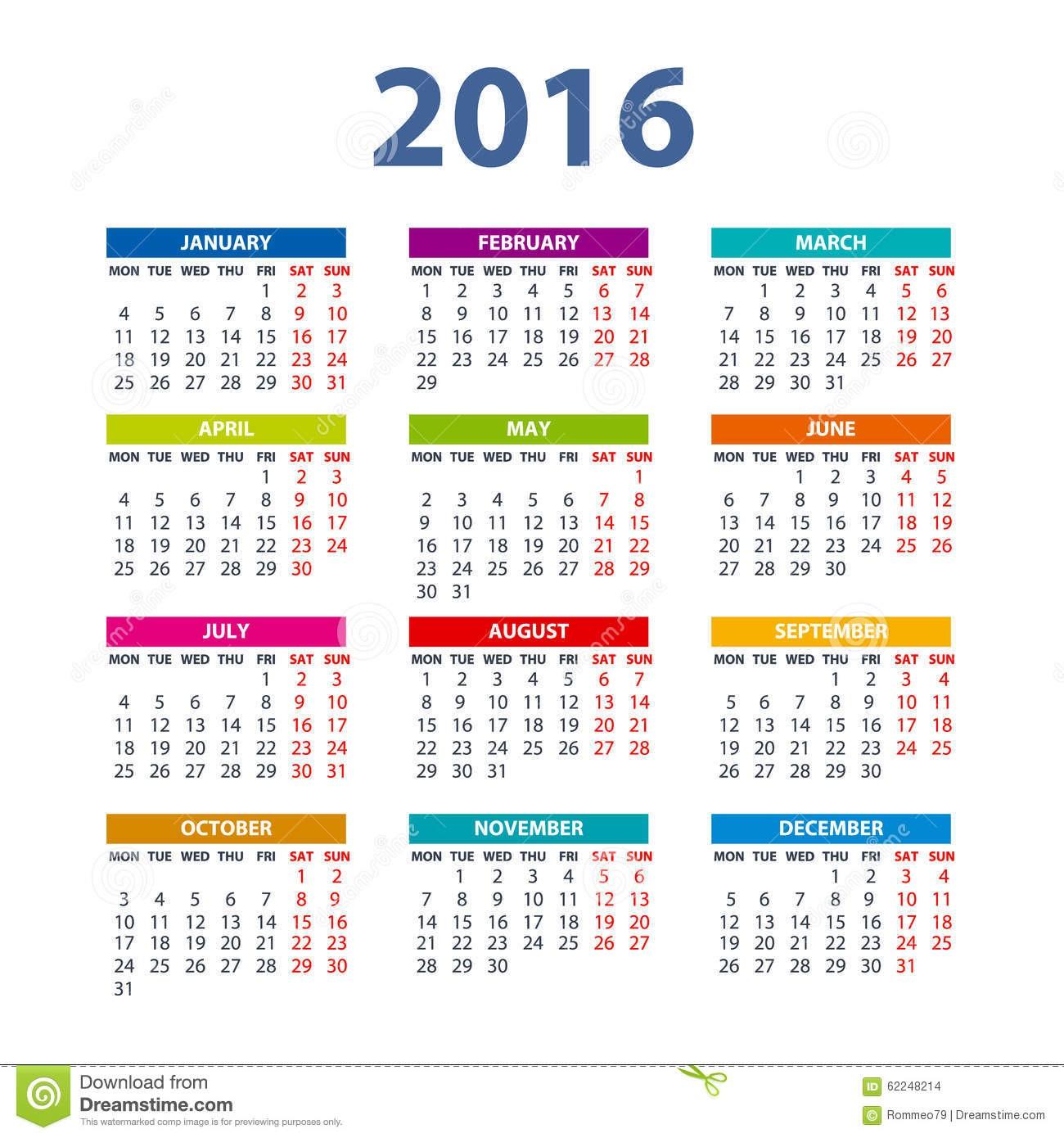 stock de ilustracin calendario diseo del color del vector del ejemplo image