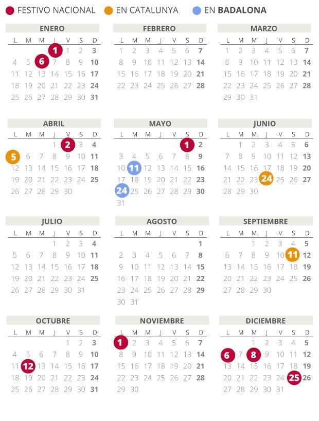 Calendario Del 2021 Recientes Calendario Laboral Badalona 2021 Con todos Los Festivos