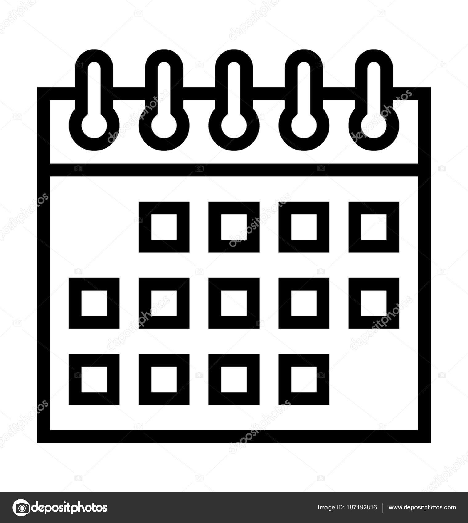 stock illustration calendar vector icon