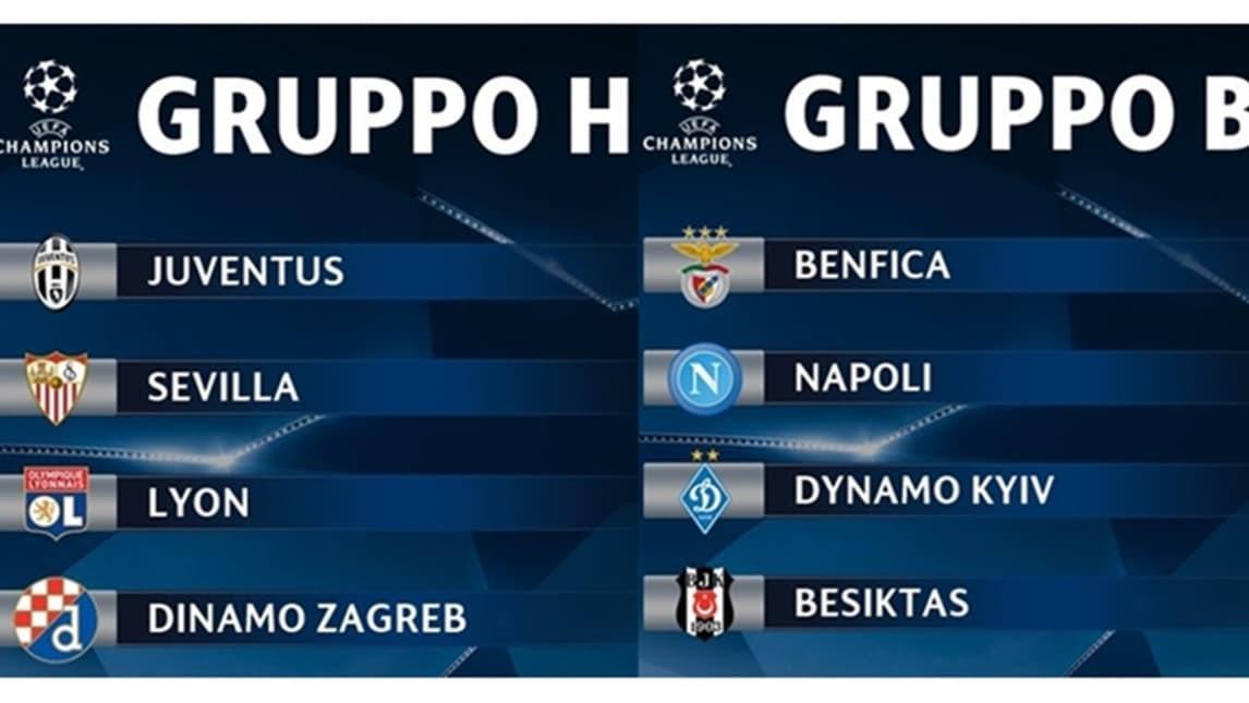 champions league 2016 2017 gironi e calendario