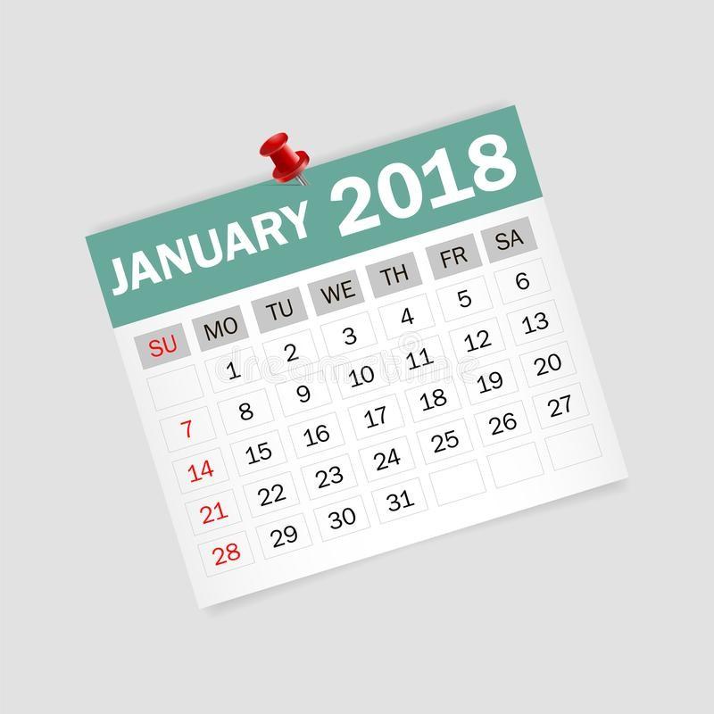en enero de ejemplo del vector planificador calendario image