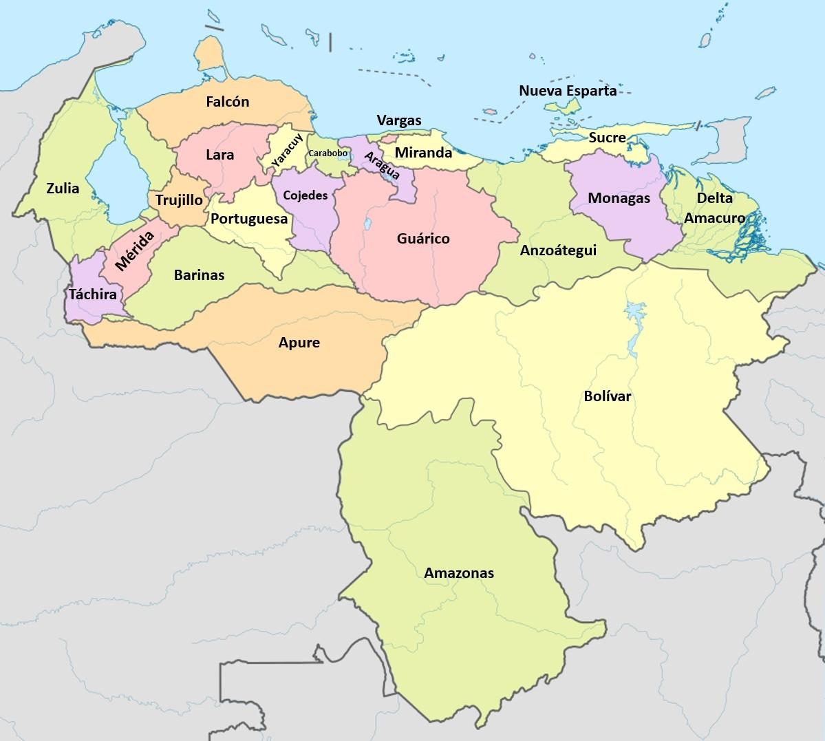poblacion estados venezuela 2019